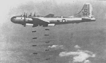 B-29 dropping 500-pound bombs