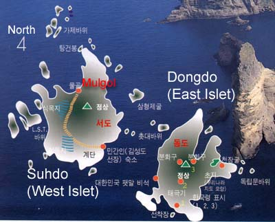 A map of Dokdo