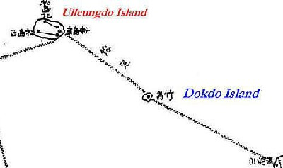 Formerly secret Imperial Japanese map of how Dokdo was used in telegraph-cable linkages.